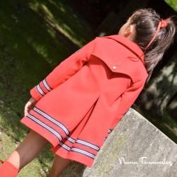 Abrigo Recto Rojo